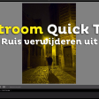 RUIS VERWIJDEREN uit je foto's | Lightroom Quick Tip