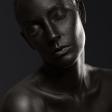 Meekijken op een bodypaint portretshoot