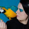 Fashion-foto's met een papegaai?