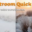 Nevel of mist verwijderen uit je foto | Lightroom Quick Tip