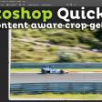 Hoe gebruik je content aware crop?   Photoshop Quick Tip