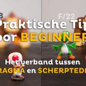 Het verband tussen DIAFRAGMA en SCHERPTEDIEPTE   Praktische tip voor beginners © thumbnail, praktische, tips, scherptediepte