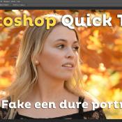 Fake een dure portretlens | Photoshop Quick Tip © quick, tip, photoshop