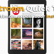 Export optimaliseren voor Instagram | Lightroom Quick Tip © thumbnail, quick, tip, instagram