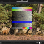 iPad-fotobewerker Photoristic HD - Mobiel finetunen
