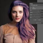 Photoshop Quick tip: haarkleur aanpassen © haarkleur, aanpassen, screenshot