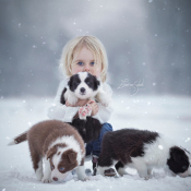 Fotografeer de mooiste winterportretten © winter, puppy's, kind