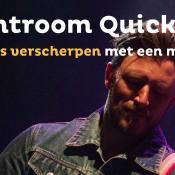 Lightroom Quick Tip - Gebruik het masker om je foto slim te verscherpen © Lightroom, quicktip, verscherpen