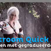 Werken met gegradueerde filters | Lightroom Quick Tip © thumbnail, quick, tip, graduele filters