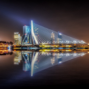 5 onderwerpen voor nachtfotografie © nacht, skyline, rotterdam