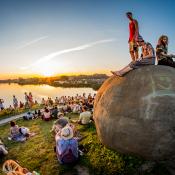 Hoe maak je de mooiste festivalfoto's? © festival, zon, sfeer