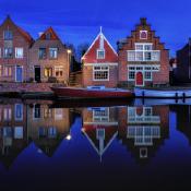 Basiscursus landschapsfotografie in de avond © edam, lampjes, avond, blauwe, uurtje