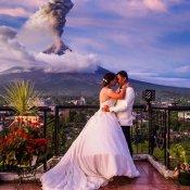Vulkaanuitbarsting als finishing touch van je bruidsfoto! © vulkaan, bruidsfotografie, uitbarsting