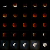 Tips om de totale maansverduistering te fotograferen © maan, overzicht, meerluik