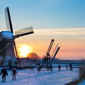 Sneeuwfoto's voor beginners © molen, winter, sneeuw, licht