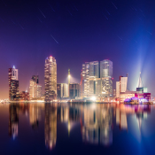 Startrails fotograferen ondanks flinke lichtvervuiling © rotterdam, sterrenstrepen, michiel