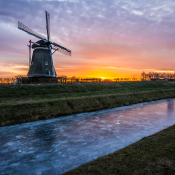 Expertuitdaging: Winterlandschappen fotograferen © winterlandschap, molen, kleur