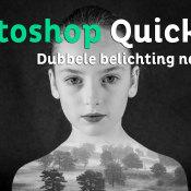Dubbele belichting nabootsen | Photoshop Quick Tip © thumbnail, quicktip, dubbele belichting