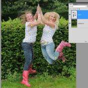 Photoshop: Verander de houding met Puppet Warp © Photoshop, Adobe, software, quickstart, puppet warp, Marionet verdraaien