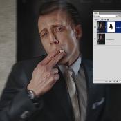 Maak van je foto een collodium in Photoshop